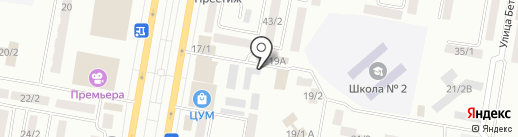 Автостоянка на проспекте Металлургов на карте Темиртау