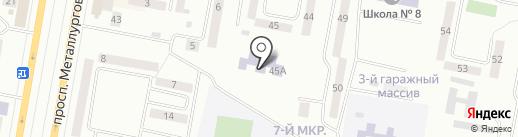 Ясли сад №7 на карте Темиртау