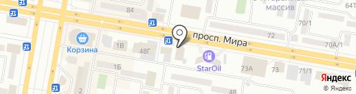 Асем на карте Темиртау