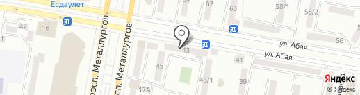 Звезда на карте Темиртау