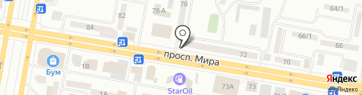 Каменный цветок на карте Темиртау