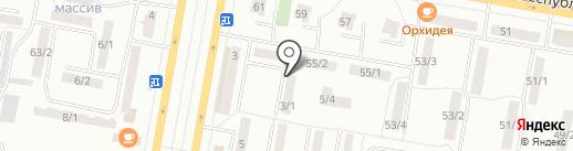 Бархат на карте Темиртау