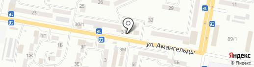 Гвоздика на карте Темиртау