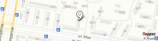Сыбага на карте Темиртау