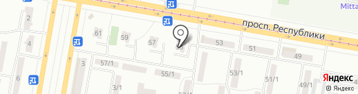 Дворовой клуб им. Куанышбека Едгина на карте Темиртау