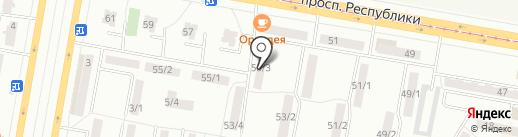 Синергия, ОО на карте Темиртау