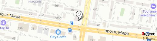 Верный на карте Темиртау