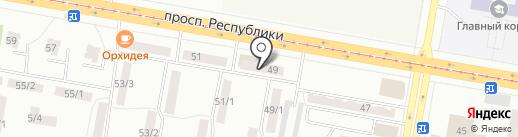 Кристалл на карте Темиртау