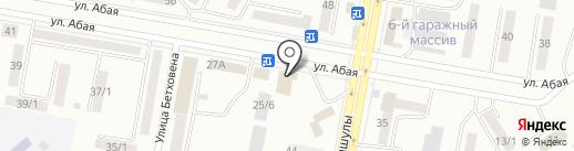 Нурсат на карте Темиртау