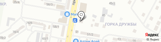 Достык на карте Темиртау