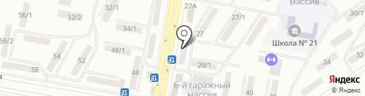 Думан на карте Темиртау