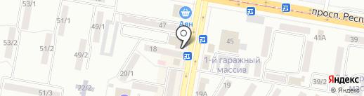 Санрайс на карте Темиртау