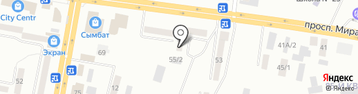 43 канал, ТОО на карте Темиртау