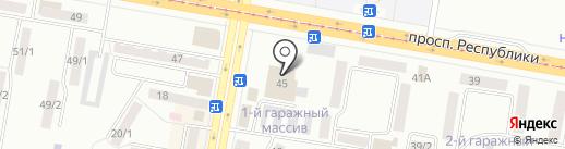 Комсомолец на карте Темиртау