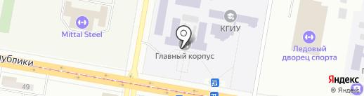 Карагандинский государственный индустриальный университет на карте Темиртау