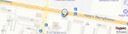 Банкомат, Сбербанк на карте Темиртау