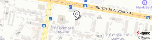 Волна на карте Темиртау