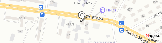 Азия на карте Темиртау