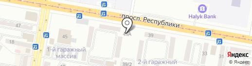 ЦЕСНАБАНК, АО на карте Темиртау