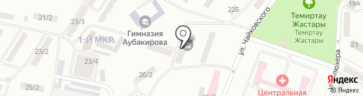 Областная специализированная школа-интернат для одаренных в спорте детей им. А. Молдагуловой на карте Темиртау