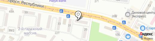 Темир-Окна на карте Темиртау