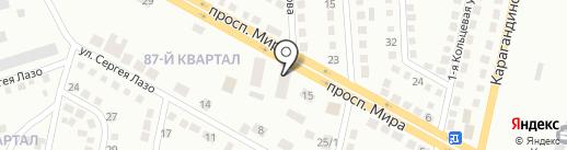 Стэка-Проект на карте Темиртау