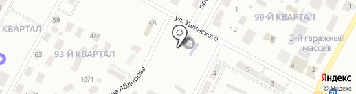 Специальная школа-интернат для детей с тяжелыми нарушениями речи на карте Темиртау