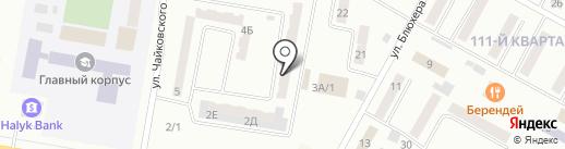 Славяна на карте Темиртау