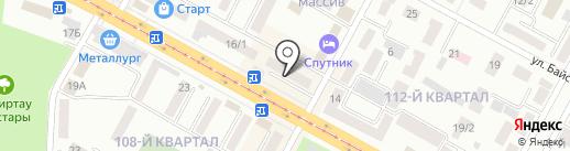 Народный банк Казахстана на карте Темиртау