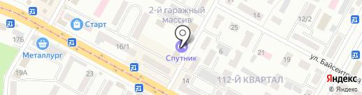 Спутник на карте Темиртау