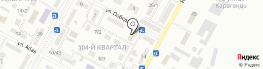 Чайка на карте Темиртау