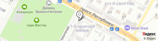 Транс сталь Казахстан на карте Темиртау
