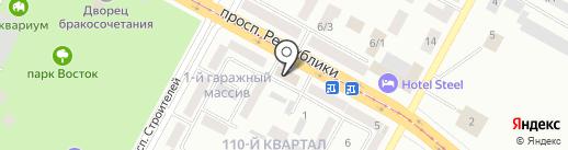 Paradize на карте Темиртау