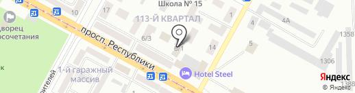 Стилит на карте Темиртау