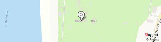 База отдыха им. А.И. Покрышкина на карте Чернолучья