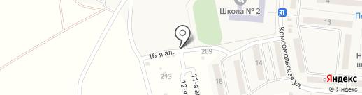 Автостоянка на карте Лузино