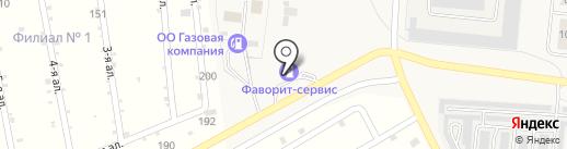 АЗС Фаворит-Сервис на карте Лузино