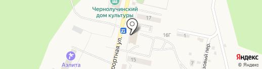 Почтовое отделение №517 на карте Чернолучья