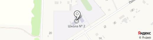 Петровская средняя общеобразовательная школа №2 на карте Петровки