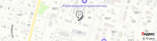Атлантик мебель, ТОО на карте Караганды