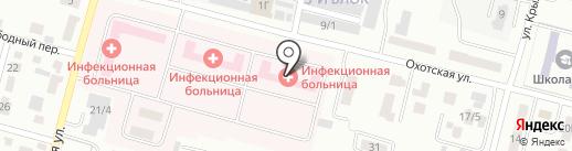 Областная инфекционная больница на карте Караганды