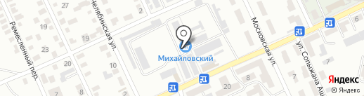 Михайловка на карте Караганды