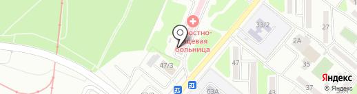 Областная челюстно-лицевая больница на карте Караганды