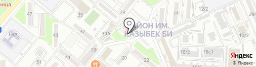 Максим на карте Караганды