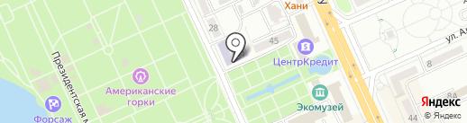 Информационная технология на карте Караганды