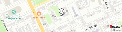 Кайсар-2 на карте Караганды