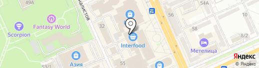 Бобер на карте Караганды