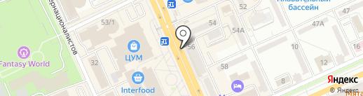 Гармала на карте Караганды