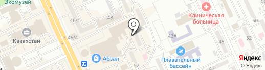 В квартире на карте Караганды