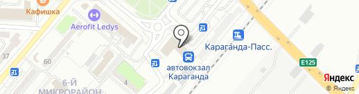 Согдис на карте Караганды